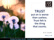 Thought For The Day ( TRUST )