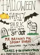 Halloween party in the park in aid of CLIC Sargent