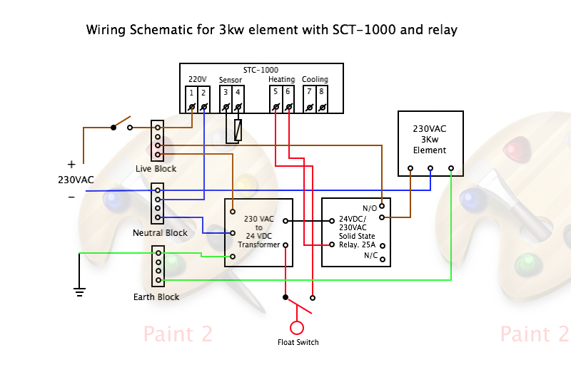 build hlt controller stc 1000 with relay and float switch stc-1000 wiring instruction stc 1000 wiring diagram #15