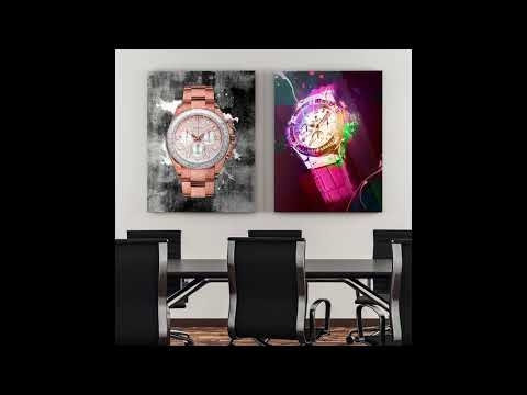 Rose Gold Rollie - Canvas Wall Art