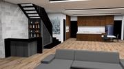 Internal Bar and Kitchen