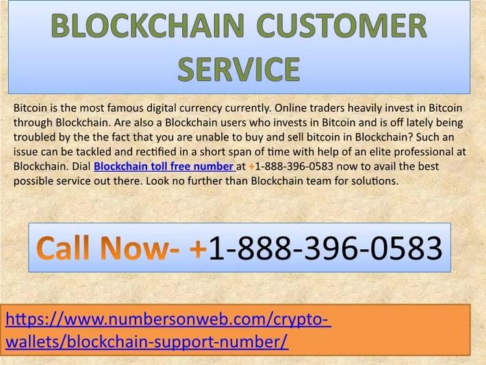 Blockchain Support Number 1-888-396-0583