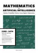 Mathematics for Artificial Intelligence