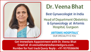 Get Treatment from World Renowned Gynecology Specialists Dr. Veena Bhat