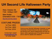 University of Hawaii Second Life Halloween Party