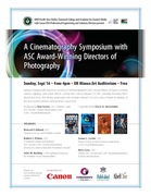 Cinematography Symposium