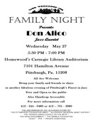Jazz Workshop Family Night Featuring Don Alico