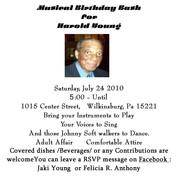 Musical Birthday Bash for Mr. Harold Young