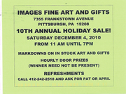 IMAGES FINE ARTS  & GIFTS - 10TH ANNUAL HOLIDAY SALE