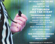 JAZZ AND FOOTBALL AT THE THUNDERBIRD CAFE !!! PITTSBURGH JAZZ FAN APPRECIATION EVENT