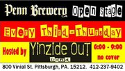 yoho's YiNZiDE OUT open stage, 3RD-THURSDAYS at Penn Brewery