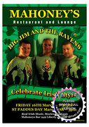 LITTLE E'S JAZZ CLUB AND RESTAURANT WILL BE DARK MARCH 16 AND MARCH 17 WE ARE PROUD TO BRING BACK OUR TRADITIONAL ST.PATRICKS DAY SHOW AT MAHONEYS RESTAURANT!!!