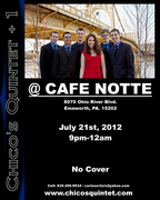 CHICO'S QUINTET+1 AT CAFE NOTTE THIS SATURDAY!!!