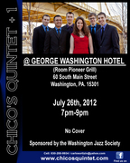 CHICO'S QUINTET + 1 AT THE GEORGE WASHINGTON HOTEL