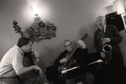 Jazz Brunch at The Walnut Grill in Mt. Lebanon, with Don Aliquo, Sr.--Saxophone, Mark Perna--String Bass, and Martin E. Rosenberg--Guitar