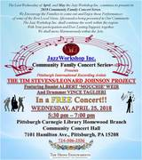Jazz Workshop Inc. Community Family Concert Series