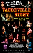 Freddie Jones featured in Vaudeville Night