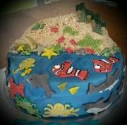 een vissen-verjaardagstaart