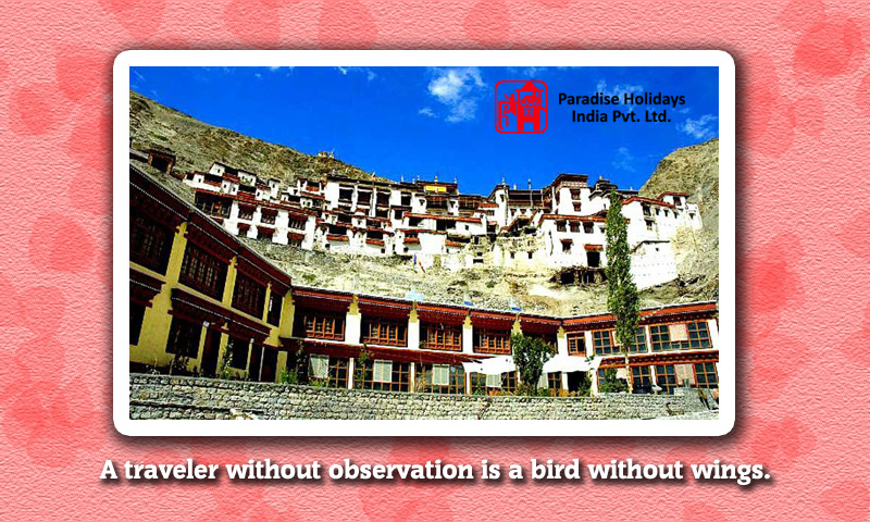 A traveler without observation is a bird without wings.