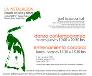 Danza Contemporanea / Joel Inzunza Leal / La Instalaccion / Bs As