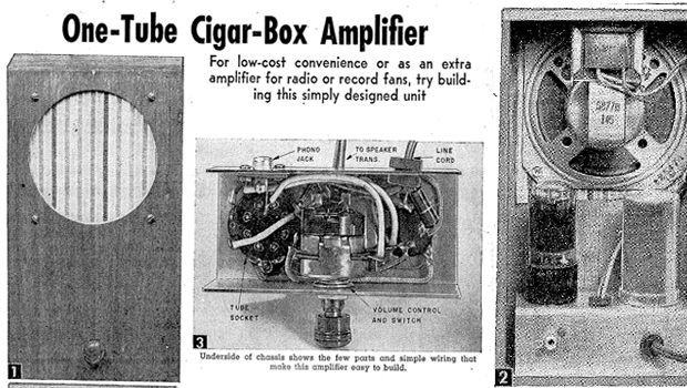 Build A One Tube Cigar Box Amplifier Vintage Plans From 1954