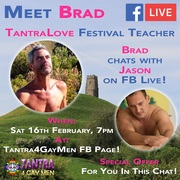 Meet Brad at the TantraLove Festival UK 2019
