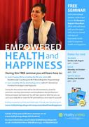 Empowered Health and Happiness Free Seminar North West Delhi 2nd Oct 2016 with Dr Rangana Rupavi Choudhuri (PhD)
