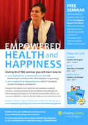 Empowered Health and Happiness Free Seminar North West Delhi 2nd Oct 2016 with Dr Rangana Rupavi Choudhuri (PhD)