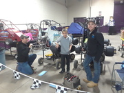 2019 Motorama The family getting the 1/4 Midgets ready.