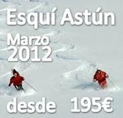 VIAJE DE ESQUI EN EL PUENTE DE SAN JOSE A ASTUN (MARZO 2012)