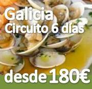 Circuito ::Galicia Rias Baixas :: 6 dias :: Pensión Completa :: desde 180€