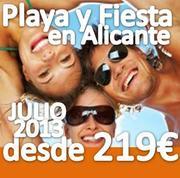 PLAYA Y FIESTA en ALFAZ DEL PI (ALICANTE) JULIO 2013