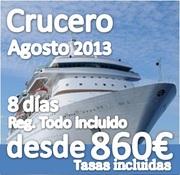 Crucero Mediterráneo Agosto::: 8 Días :: Regimen Todo Incluido:: ya somos cerca de 40 Singles :: ultimas plazas