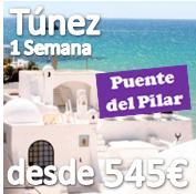 Puente del Pilar :: Tunez :: 7 noches desde 545€ :: Hotel 4* :: Todo Incluido :: Con vuelos desde Barcelona o Madrid :: Octubre 2013