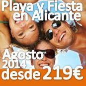 PLAYA Y FIESTA SINGLE en ALFAZ DEL PI (ALICANTE) AGOSTO 2015