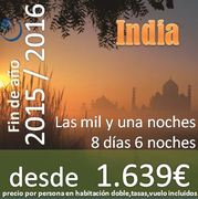 Viaje a India: Fin de año: 8 días 6 noches desde 1.639€