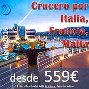 Foro : Crucero Italia Francia Malta : Régimen Pensión Completa : Salida desde Valencia