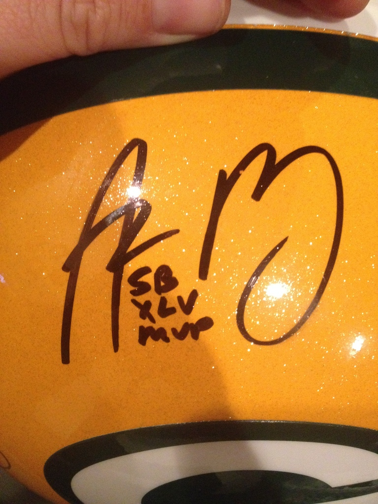 best service c4e43 84c75 Aaron Rodgers Real or Fake? - Autograph Live