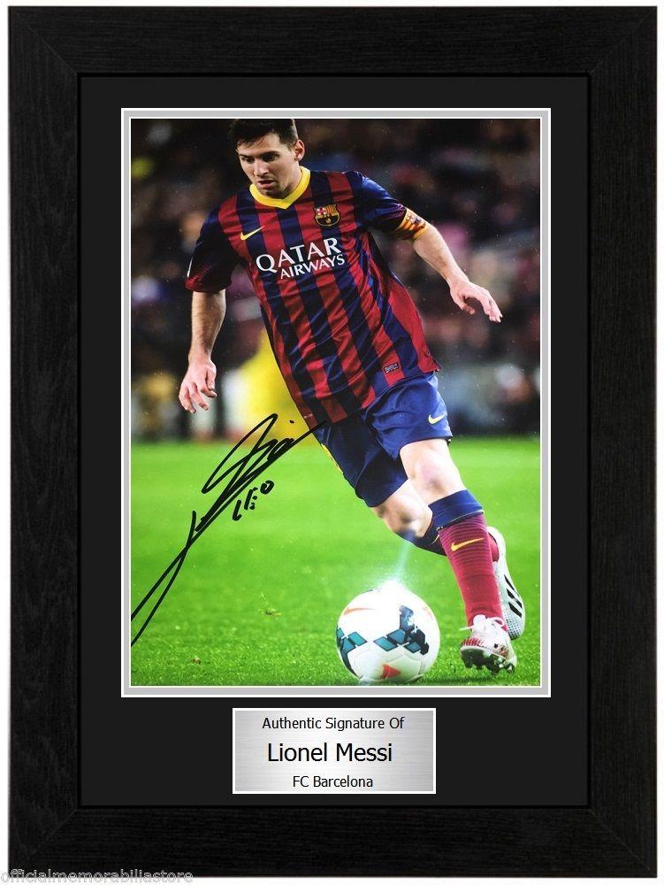 1a03df0fdb7 Lionel Messi FC Barcelona Framed Autographed Signed Photo - Autograph Live