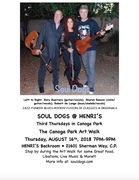 SOUL DOGS @ Canoga Park Third Thursday ARTWALK - August 16 - 7-9 PM