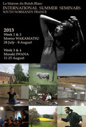 Summer International Butoh Seminars South Normandy, France with Moeno Wakamatsu & Masaki Iwana