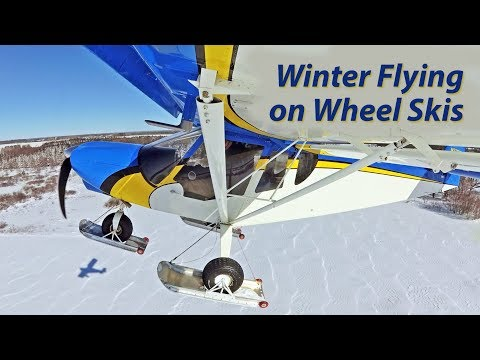 Winter Flying on Snow Skis