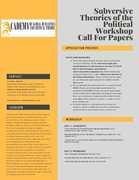 Subversive Theories of the Political Workshop