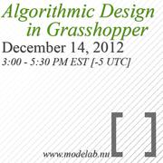 Algorithmic Design in Grasshopper - Webinar