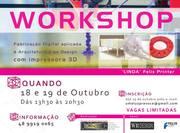 WORKSHOP FABRICAÇÃO DIGITAL APLICADA À ARQUITETURA E AO DESIGN COM IMPRESSORA 3D
