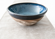Mixed clay serving bowl