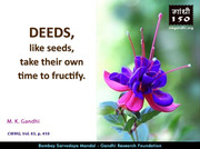Thought For The Day ( DEEDS )