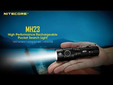 NITECORE MH23 1800 Lumens lampe torche compacte mini