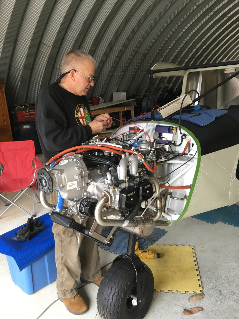 Rotax 912 installation on a 701