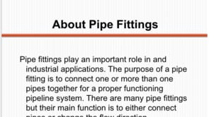 A Quick Guide to Pipe Fittings by K. K. Industries